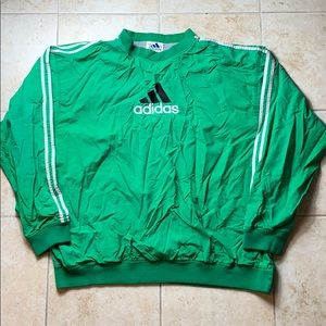 Vintage Adidas Green Windbreaker Sweater